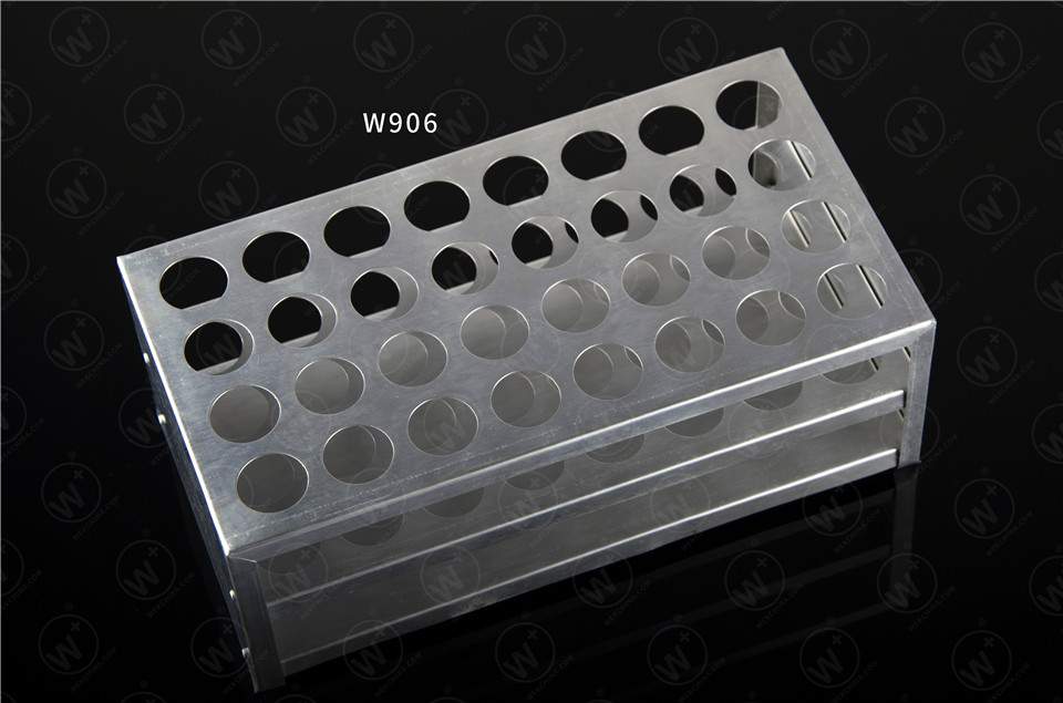 Aluminum test tube rack